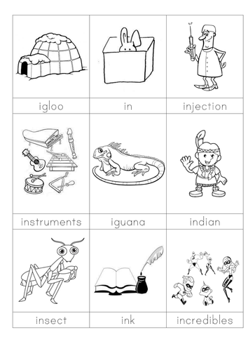 words beginning with I flashcards