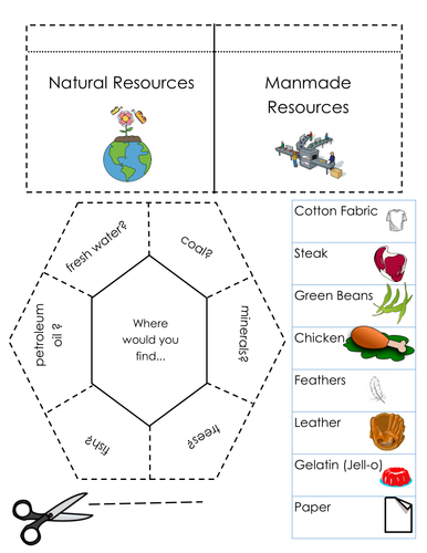Natural Resources~Foldable/Interactive Notebook Pages
