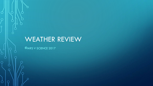 Weather Review Game!