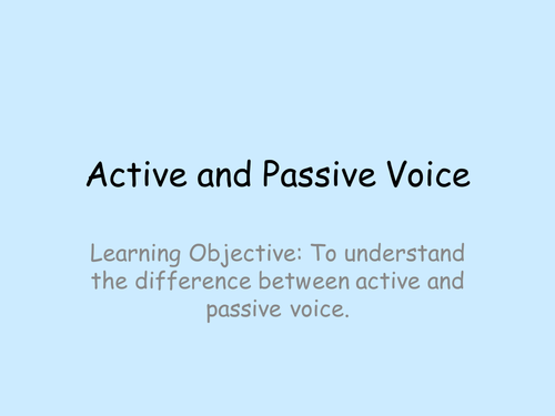 Active and Passive Voice Grammar by bethwatts1984 Teaching – Active and Passive Voice Worksheets
