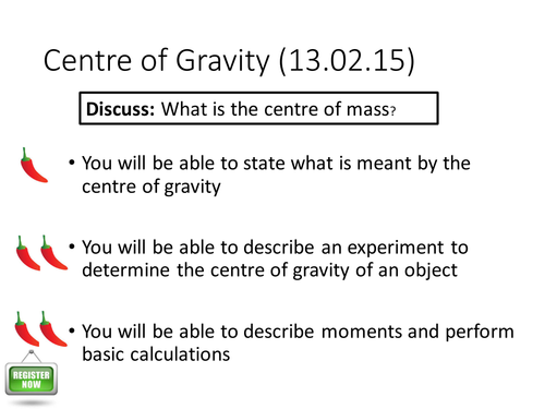 NEW Spec A-level Physics Centre of Mass PPT