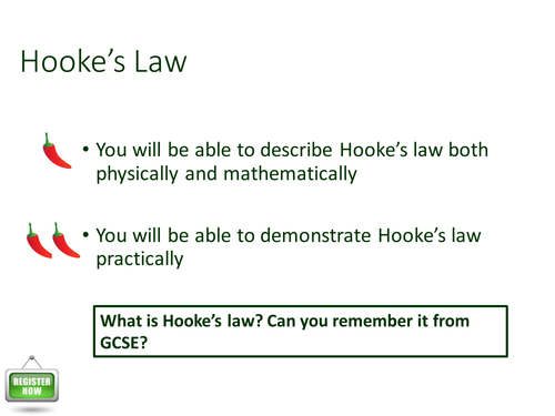 New Spec A-level Physics Hookes Law PPT