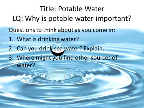 GCSE New Spec Combined Science: Potable Water