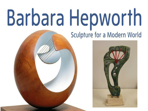 Sculpture in the style of Hepworth