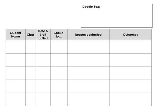 Home-School contact log
