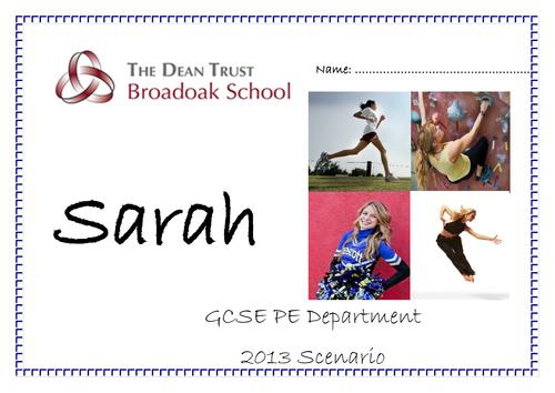 GCSE PE AQA Scenario 2013 Legacy Revision Booklet - Sarah