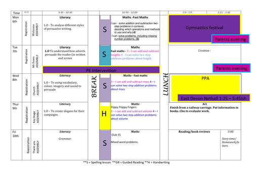 Timetable planning