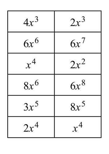 Algebra - Algebraic expressions