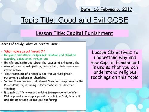 Capital Punishment/Death penalty New Spec GCSE