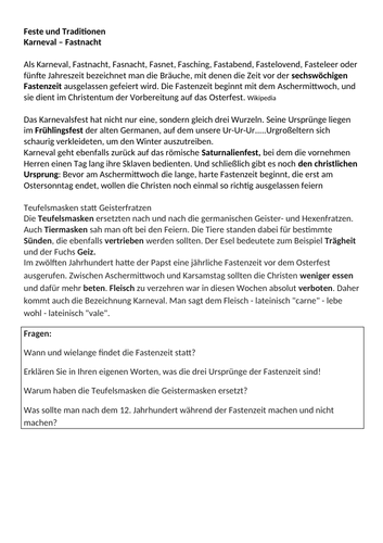 Updated NEW Edexcel /AQA A-Level German Texts and exercises : Feste und Traditionen