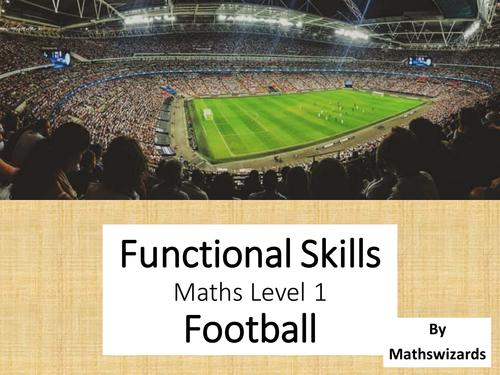 Functional Skills Maths Level 1: Football (Edexcel)