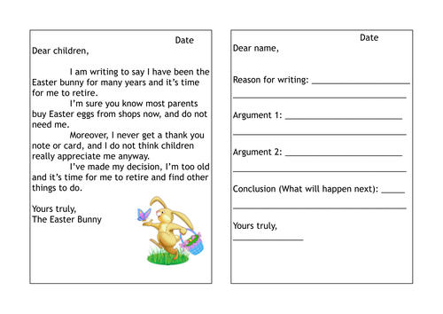 Easter bunny persuasive letter writing lesson by hanmade teaching easter bunny persuasive letter writing lesson by hanmade teaching resources tes spiritdancerdesigns Gallery