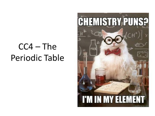CC4a - Elements and The Periodic Table - Edexcel Combined Science