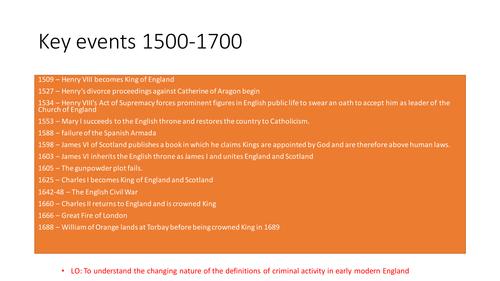 Edexcel 9-1 History Crime and Punishment: c.1500-1700