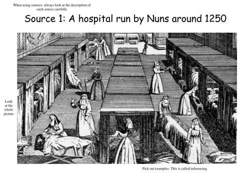 Hospitals in the middle ages sources