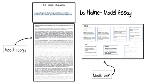 la haine model essays as and a french lot by  la haine model essays 2 as and a2 french lot3 by laprofdefrancais teaching resources tes
