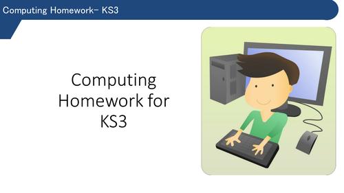 Homework strategies for KS3 computing