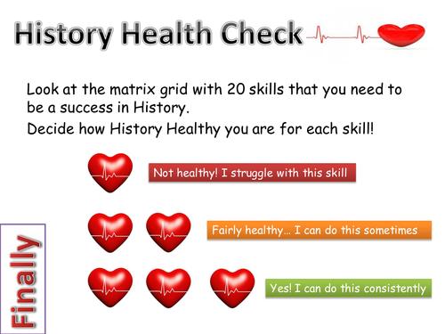 History Health Check