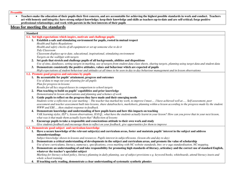 Classroom Ideas For Nqt ~ Teaching standards super helpful ideas of how you can