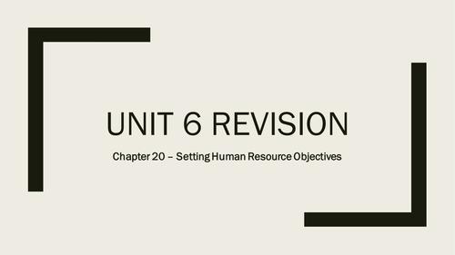 AQA A-Level Business - Unit 6 Human Resource Performance Revision Quizzes