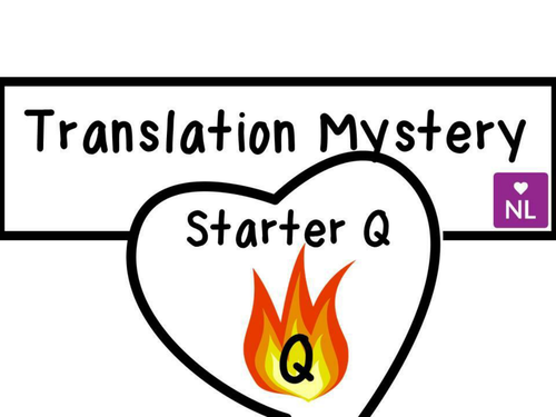 FREE Translation Starter (Quick Fire Questions)