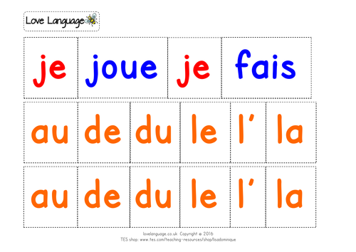 Sports in French - sentence builders