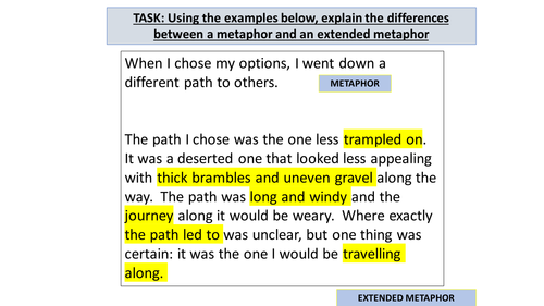 Aqa Gcse English Language Descriptive Writing Extended Metaphors By