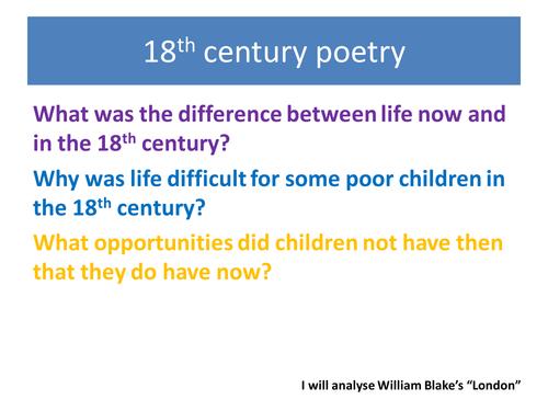 William Blake poetry - KS3