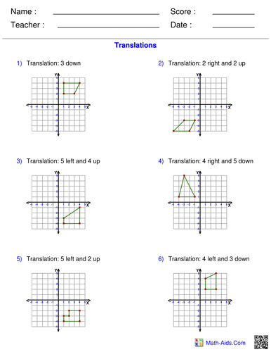 Week 2 Spring 2 year 6 translating shapes activity by
