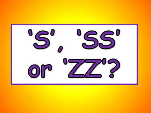 S, SS or ZZ