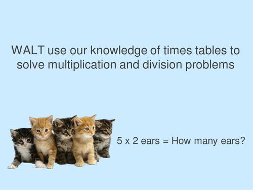Whole Class Animal Multiplication Warm-Up