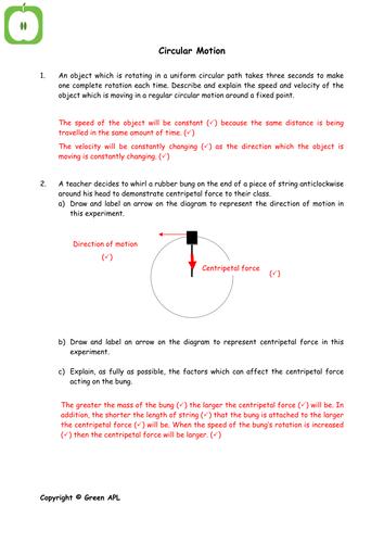 Circular motion by greenAPL | Teaching Resources