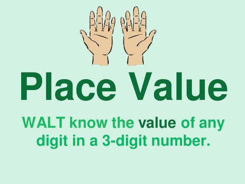 Place Value (Hundreds Tens and Ones)
