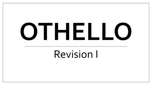 Othello Revision materials for AQA A level Literature Revision