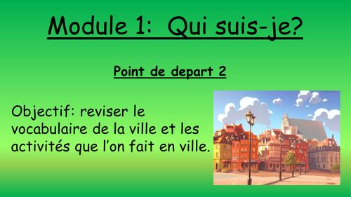 AQA GCSE Higher French Module 1 Point de depart 2