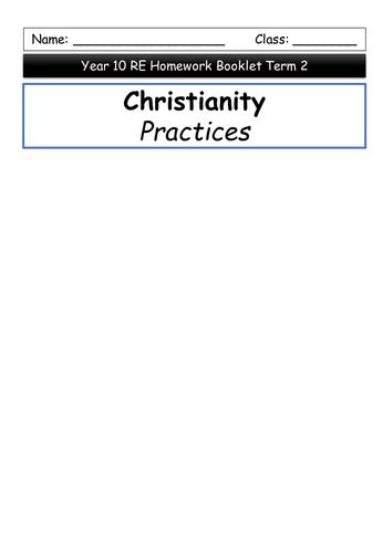 Christian Practices homework booklet