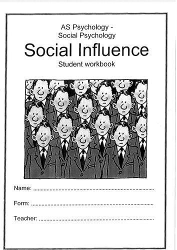 Psychology - Social Influence - Student Workbook