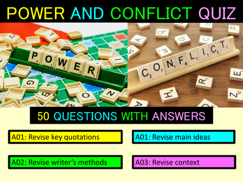 Power and Conflict Revision Quiz (AQA Poetry).