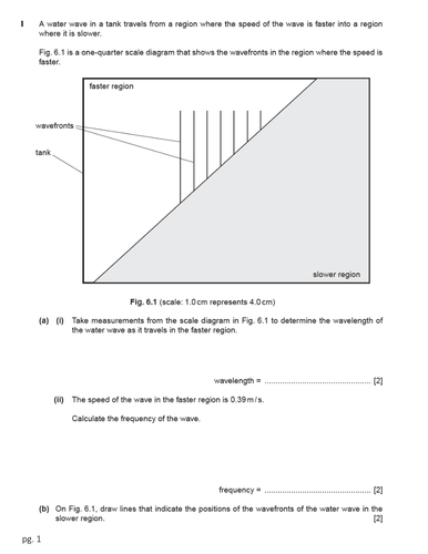 Worksheets on Wave Properties, Light and Sound