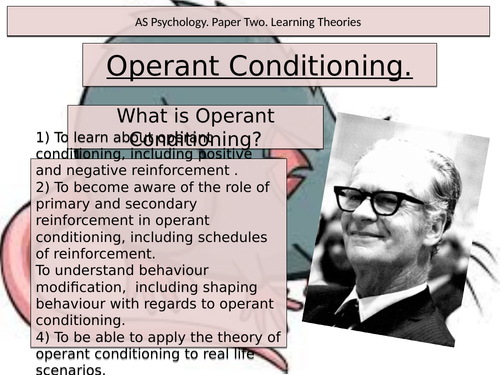 Operant Conditioning. Psychology. Learning Theories. Skinner