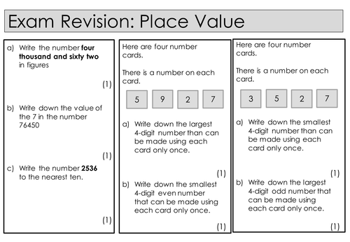 new maths gcse specification 1 9 exam style questions place value by bethbarrett2017. Black Bedroom Furniture Sets. Home Design Ideas