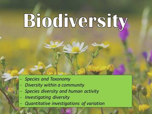 AQA AS - Biodiversity