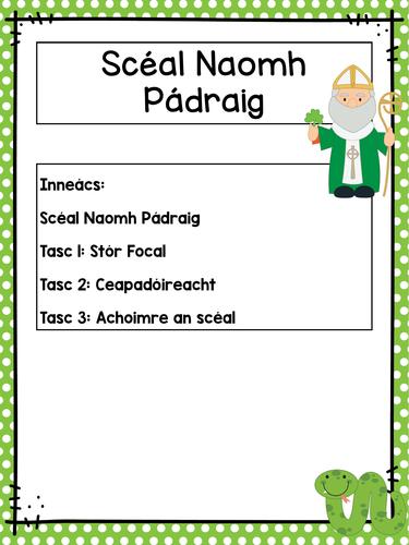 Scéal Naomh Pádraig - St. Patrick's Story as Gaeilge