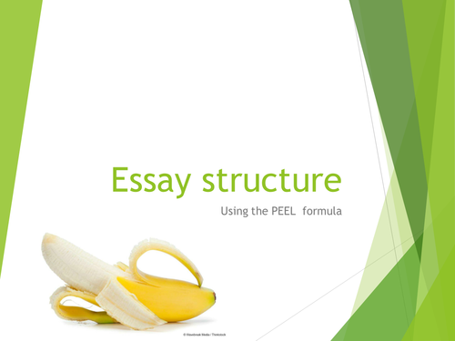 """PEEL essay structure  """"how to do"""" instructions"""
