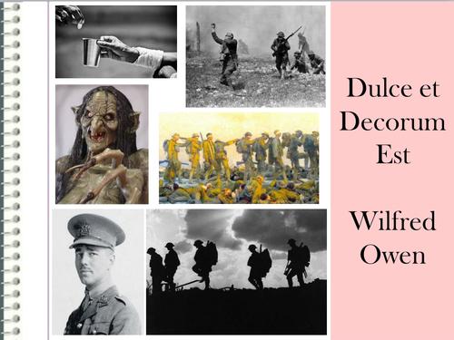 Dulce Et Decorum Est Revision