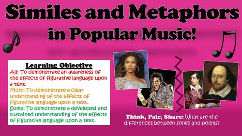 Similes And Metaphors In Popular Music By Tandlguru Teaching