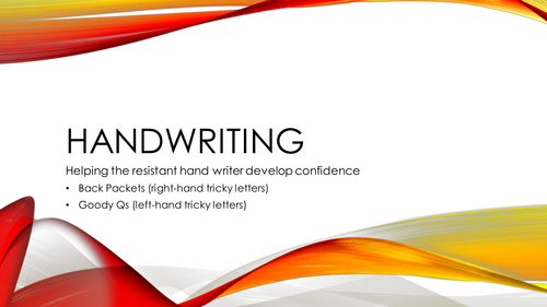 Handwriting Practice (Letter Direction) for the Resistant Hand Writer