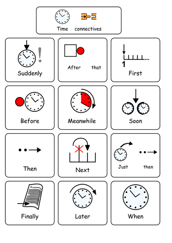 Conjunctions and time connectives SEN