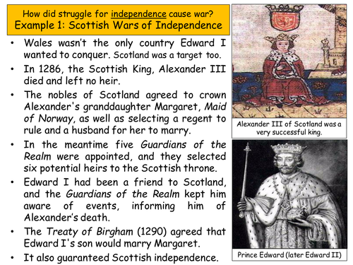 What caused the Scottish Wars of Independence?