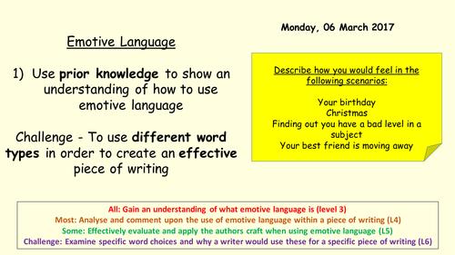 Emotive language - Key Stage 3 English
